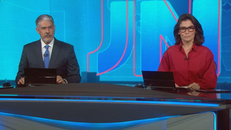 Jornal Nacional interrompe programação (Foto: Reprodução/Globo)