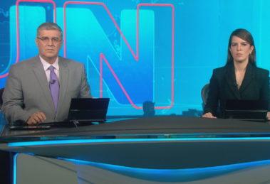 Jornal Nacional interrompe programação da Globo (Foto: Reprodução/Globo)