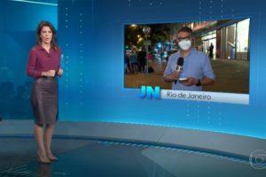 Estado de saúde de Paulo Gustavo foi divulgado no Jornal Nacional (Foto: Reprodução)