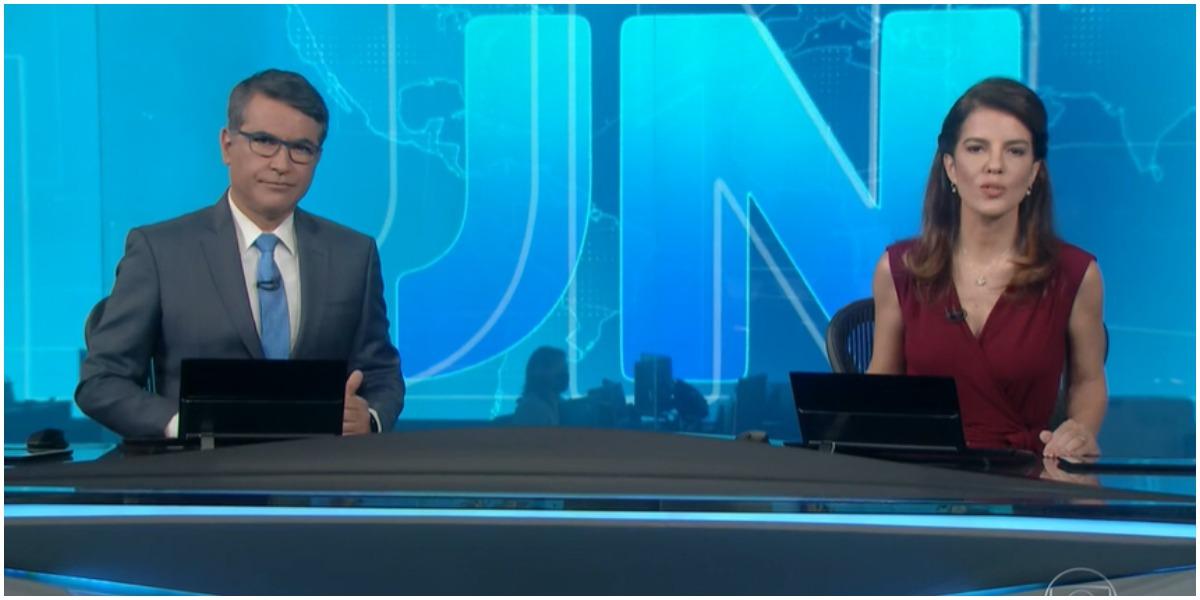 Os âncoras do Jornal Nacional, da Globo - Foto: Reprodução