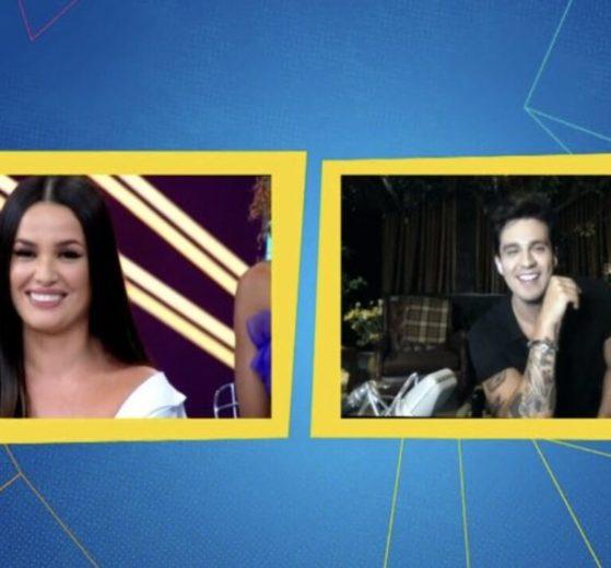 """Juliette e Luan Santana conversaram no """"Eliminação"""" (Foto: Reprodução/Multishow)"""