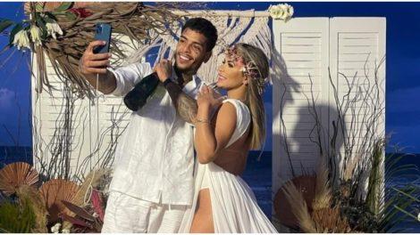 MC Kevin no dia do seu casamento com Deolane Bezerra (Foto: Reprodução)