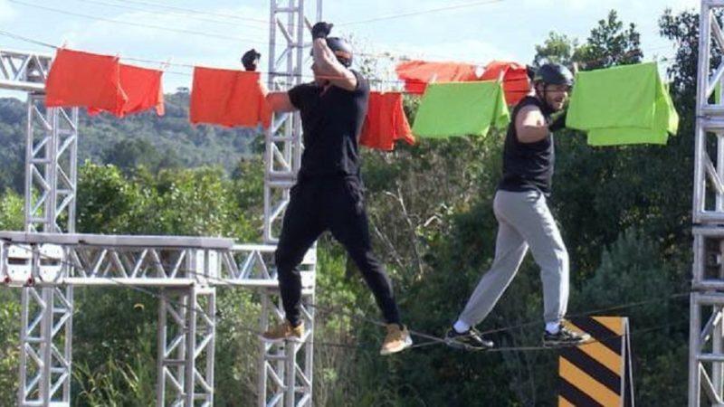 Prova dos Homens acaba em quebra pau no Power Couple Brasil (Foto: Reprodução/Record)