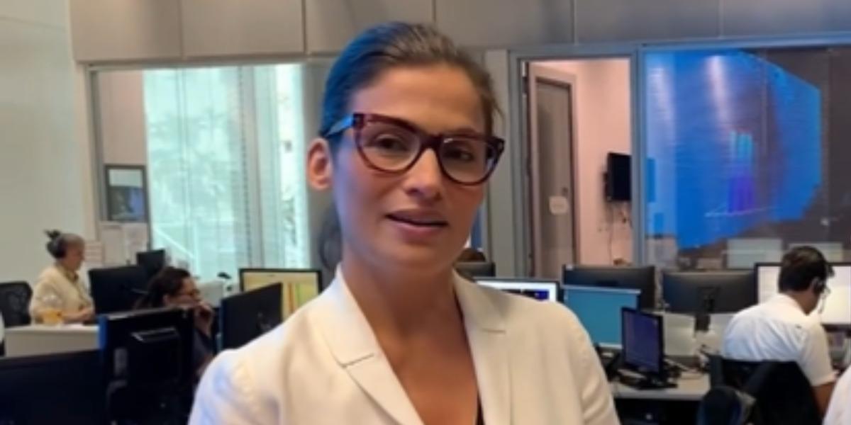 Renata Vasconcellos se isolou após saída do Jornal Nacional e comentou que está em paz (Foto: Reprodução)