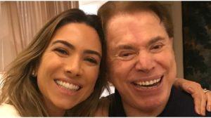 Silvio Santos com a filha mais nova, Patricia Abravanel - Foto: Reprodução
