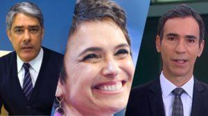 Funcionária conta que Bonner enlouqueceu, Sandra Annenberg assume amor por mulher e César Tralli assume o JN