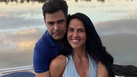 O casal Graciele Lacerda e Zezé Di Camargo