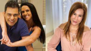 Graciele Lcerda responde se faria as pazes com Zilu após ex-mulher de Zezé dizer que não guarda rancor (Foto: Reprodução)