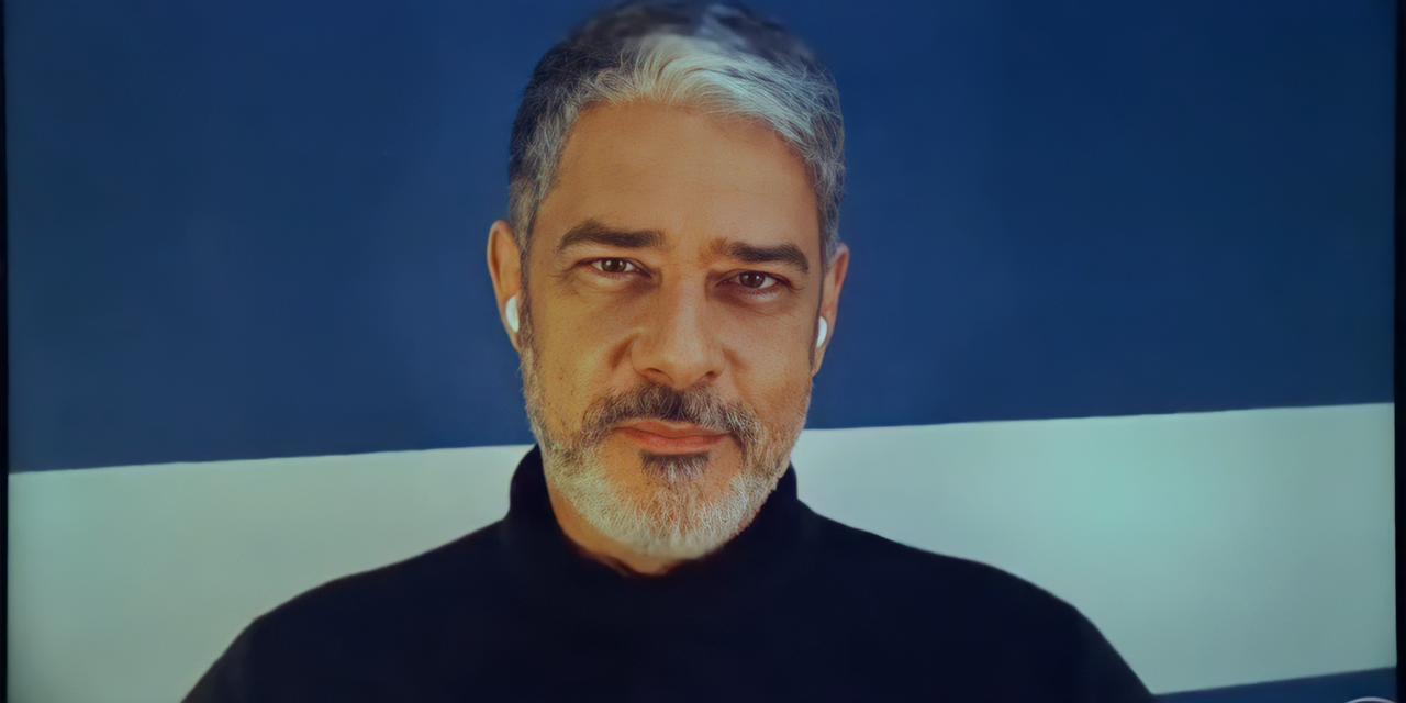 William Bonner continuará na emissora em 2022 (Foto: Reprodução/TV Globo)